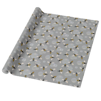 Bubble Bees Wrapping Paper
