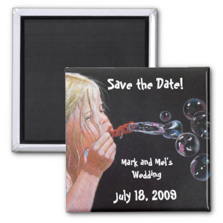 BUBBLE BLOWER SAVE THE DATE MAGNET