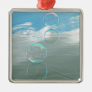 Bubble, Blue Christmas Ornament