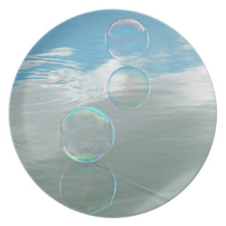 Bubble Blue Plate