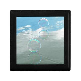 Bubble, Blue Small Square Gift Box