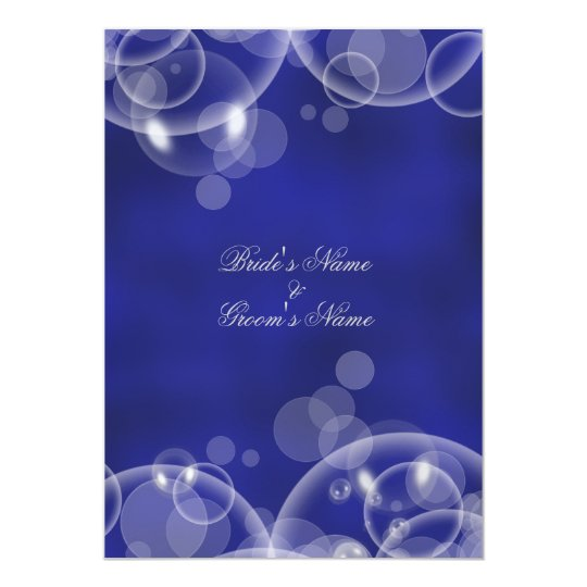 Bubble blue winter wedding engagement #2 card