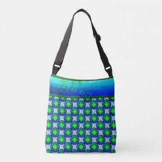 Bubble Blues Crossbody Tote Bag