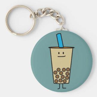 Bubble Boba Pearl Milk Tea Tapioca balls Basic Round Button Key Ring