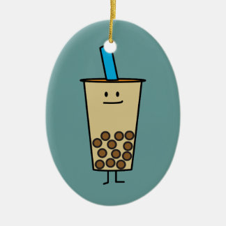 Bubble Boba Pearl Milk Tea Tapioca balls Christmas Ornament