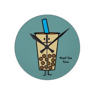 Bubble Boba Pearl Milk Tea Tapioca balls Round Clock