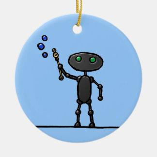 Bubble Bot Personalized Ornament