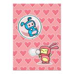 Bubble Bunnies 13 Cm X 18 Cm Invitation Card