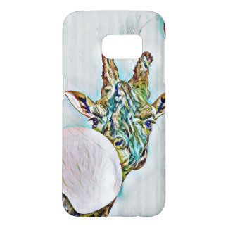 Bubble colorful nerdy giraffe Samsung Galaxy S7