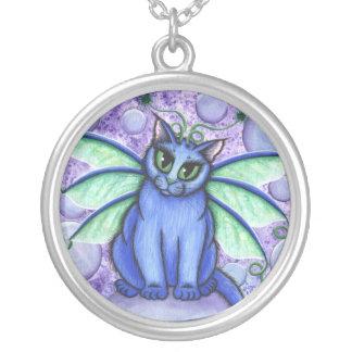 Bubble Fairy Cat Fantasy Art Necklace