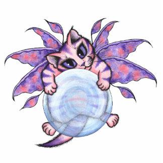 Bubble Fairy Kitten Art Ornament Photo Sculpture