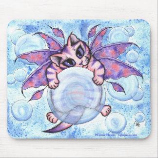 Bubble Fairy Kitten Cat Fantasy Art Mousepad
