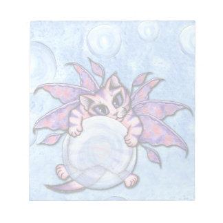 Bubble Fairy Kitten Fantasy Cat Art Notepad