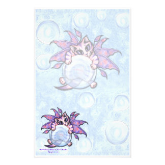 Bubble Fairy Kitten Fantasy Cat Art Stationery