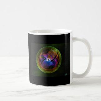 Bubble floating on Black background Coffee Mug