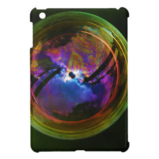 Bubble floating on Black background iPad Mini Cover