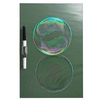 Bubble floating on water dry erase board