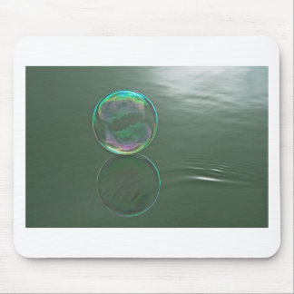 Bubble floating on water mouse mat