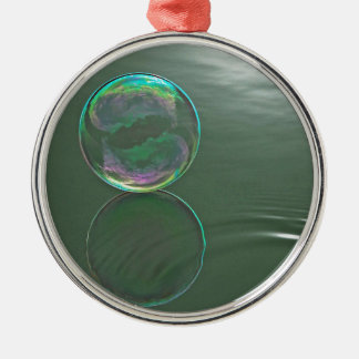 Bubble floating on water Silver-Colored round decoration