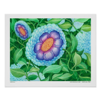 Bubble Flower Art Poster
