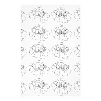 Bubble flower black and white stationery