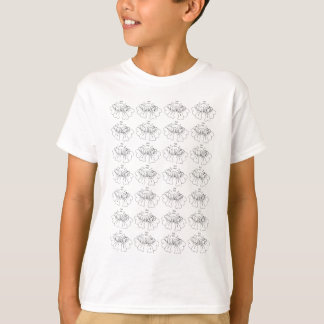 Bubble flower black and white T-Shirt