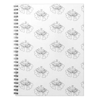 bubble flower half drop notebooks