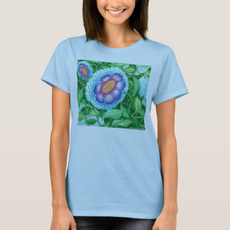 Bubble Flower Ladies Fitted Color Shirt