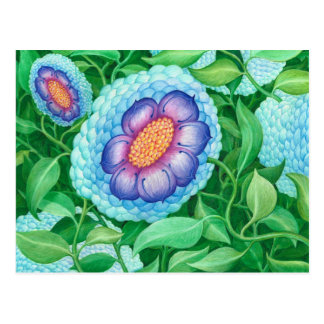 Bubble Flower Postcard
