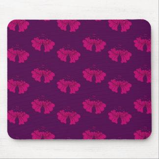 bubble flower purple mouse mat