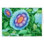 Bubble Flowers Blank Note card