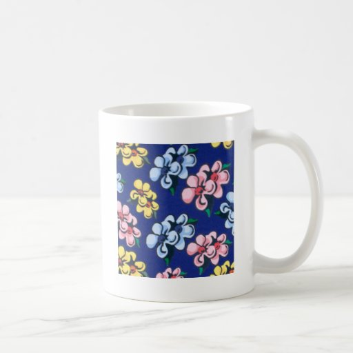 bubble flowers coffee mug