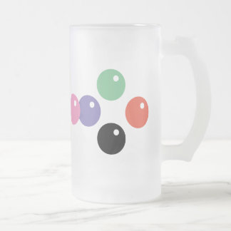 Bubble Frosted Glass Beer Mug