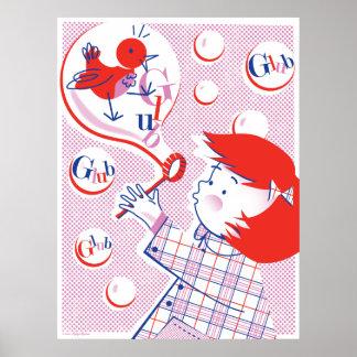 Bubble, Girl! Print