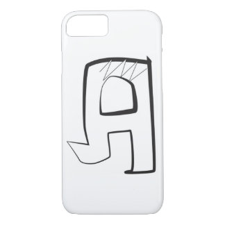 "Bubble graffiti angular style letter ""A"" iPhone 7 Case"