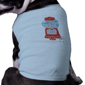 Bubble gum machine. sleeveless dog shirt