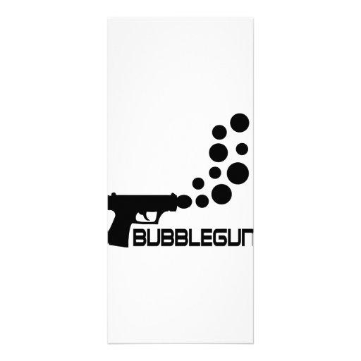 bubble gun icon full color rack card