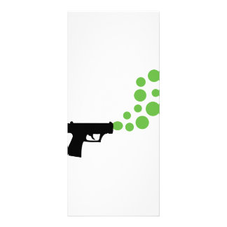 bubble gun with bubbles icon customised rack card