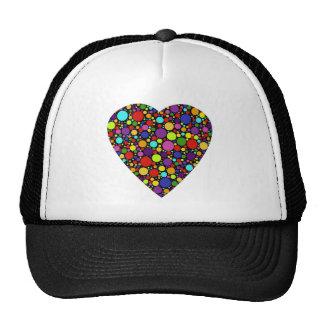 Bubble Heart Trucker's Hat