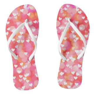 Bubble Hearts Flip Flops