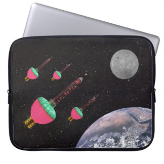 Bubble Lights in Space Laptop Sleeve