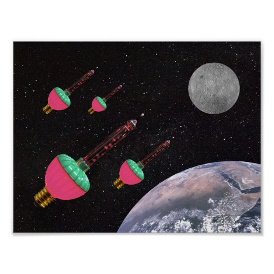 Bubble Lights in Space Poster