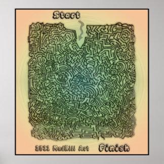 Bubble Maze Print