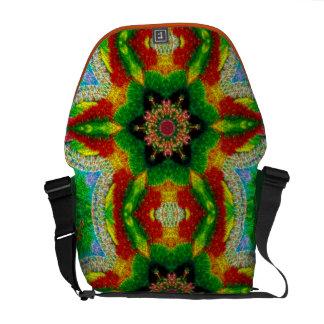 Bubble Mosaic Mandala Messenger Bag