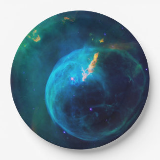 Bubble Nebula Paper Plate
