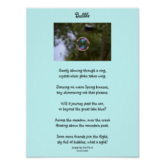 Bubble Poster For Children