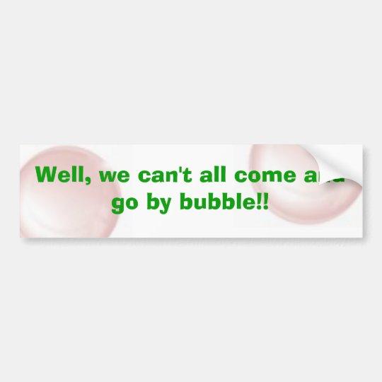 Bubble Quote Bumper Sticker