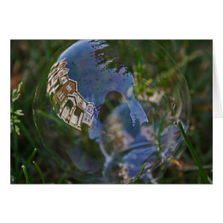 Bubble Reflection Photograph. Greeting Card