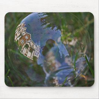 Bubble Reflection Photograph Mouse Pads