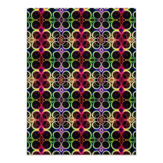 Bubble Rings Rainbow Holographic Effect Art 17 Cm X 22 Cm Invitation Card